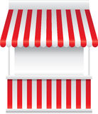 Detailed vector illustration of a stall stand Royalty Free Stock Images