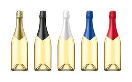 Bottles of Champagne. Version with transparent glass. royalty free stock image