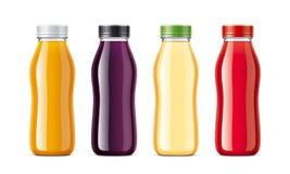 Bottles for juice and other drinks. Transparent bottles version Stock Photo