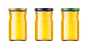 Clear Honey Jar mockup. Stock Images