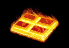 Chocolate in fire stock photography
