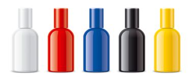 Colored bottles for parfumу and other royalty free stock image