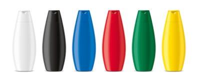 Plastic bottles mockup stock photography