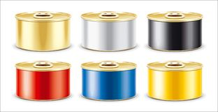 Tin Can. Gold version. With ring royalty free stock images