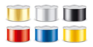 Tin Can. Silver version. Without ring royalty free stock photography