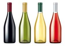 Wine bottles mockups set Stock Images