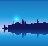 Detailed vector Istanbul silhouette skyline Royalty Free Stock Image