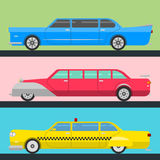 Detailed vector luxury limousine long car transportation detailed auto business transport design speed pickup graphic Royalty Free Stock Image
