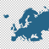 Detailed vector map of Europe Stock Photos
