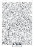 Detailed vector poster city map Berlin. Vector illustration for design royalty free illustration