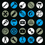 Detailed vector work tools collection, 3d repair instruments Stock Photography