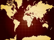 Detailed vector world map Royalty Free Stock Image