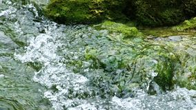 Detailed view of the beautiful waterfalls in Plitvice National Park, Croatia stock video