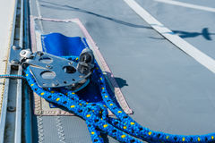 Detailed view of a catamaran deck Royalty Free Stock Images