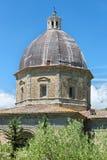 Detailed view of the Church of Santa Maria Nuova in Cortona, Tuscany, Italy Stock Photos