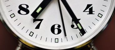 Detailed view of the clock Royalty Free Stock Photos