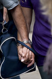 Detailed view of a couple. Holding hands Royalty Free Stock Photo