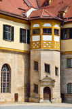 Detailed view in the court of castle Hohentubingen, Germany Royalty Free Stock Images