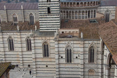 Detailed view of Duomo di Siena. View from facciatone Tuscany. Italy. Stock Image