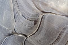 Beautiful curves in frozen layers of water 7 royalty free stock photos