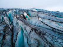 Detailed view of glacier structure Royalty Free Stock Photo