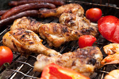 Detailed view of grilled chicken Royalty Free Stock Image