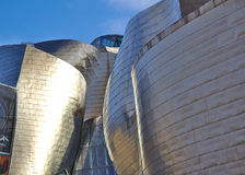 Detailed view of the Guggenheim Museum in Bilbao Stock Photography