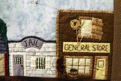 Detailed View of Handmade Western Street Scene Stock Photos