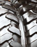 Detailed view of heavy vehicle new tire texture Stock Photo