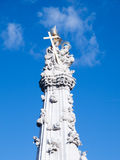 Detailed view of Holy Trinity plague column in Buda Castle District, Budapest, Hungary, Europe Stock Image