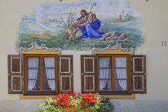 Folk art in Mittenwald Stock Photography