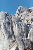 Detailed view natural Esmarkbreen glacier in Spitsbergen. Blue sky stock images