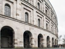 Detailed view of Nazi Congres Hall inspired by Colosseum, Nuremberg, Germany.  stock photo