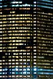 Detailed view of office building. Detailed image of a modern office building at night Stock Photography