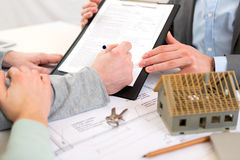 Detailed view of people signing contract Stock Photography