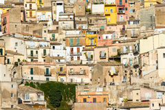 Detailed view of Ragusa Ibla. Detailed view of the old town of Ragusa Ibla in Sicily Royalty Free Stock Photos