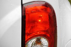 Detailed view of the rear light of a car royalty free stock images