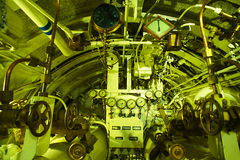 Detailed view of torpedo room in submarine. Detailed view of torpedo room in old submarine Stock Photography