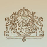 Detailed Vintage Royalty Emblem Stock Images