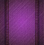 Detailed violet jeans texture. Vector Royalty Free Stock Images