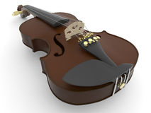 Detailed violin Royalty Free Stock Photo