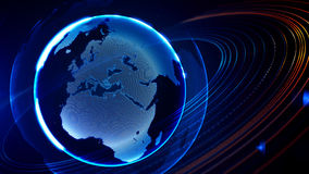 Detailed virtual planet Earth. Technological digital globe world Royalty Free Stock Photography