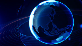 Detailed virtual planet Earth. Technological digital globe world Royalty Free Stock Photo