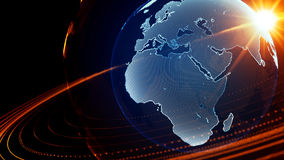 Detailed virtual planet Earth. Technological digital globe world Stock Photo