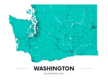 Free Detailed Washington State Map, Highly Detailed Territory And Road Plan, Vector Illustration Royalty Free Stock Photo - 186949525