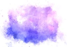 Detailed pink and purple watercolour texture. Detailed watercolour texture background in shades of pink and purple Royalty Free Stock Photos
