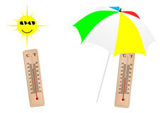 Detailed weather illustration Royalty Free Stock Image