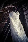 Detailed wedding dress Royalty Free Stock Image