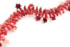 Detailed wide christmas garland xmas border with fir branches is Stock Photography
