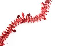 Detailed wide christmas garland xmas border with fir branches is Stock Photos
